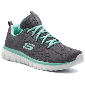 0324fbb030 Boty SKECHERS Get Connected 12615 CCGR Charcoal Green