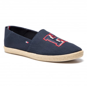 0350d5c4c4 Espadrilky TOMMY HILFIGER Badge Summer Slipon FM0FM02209 Midnight 403