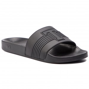 Nazouváky TOMMY HILFIGER Th Seasonal Pool Slide FM0FM02077 Black 990 0cb528c7a7