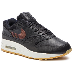 big sale e9fe2 8e9f2 Boty NIKE - Air Max 1 Prm 454746 020 Black Black Gum Yellow