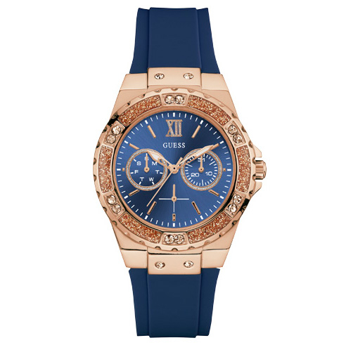 495088191e Hodinky GUESS - Limelight W1053L1 BLUE ROSE GOLD TONE